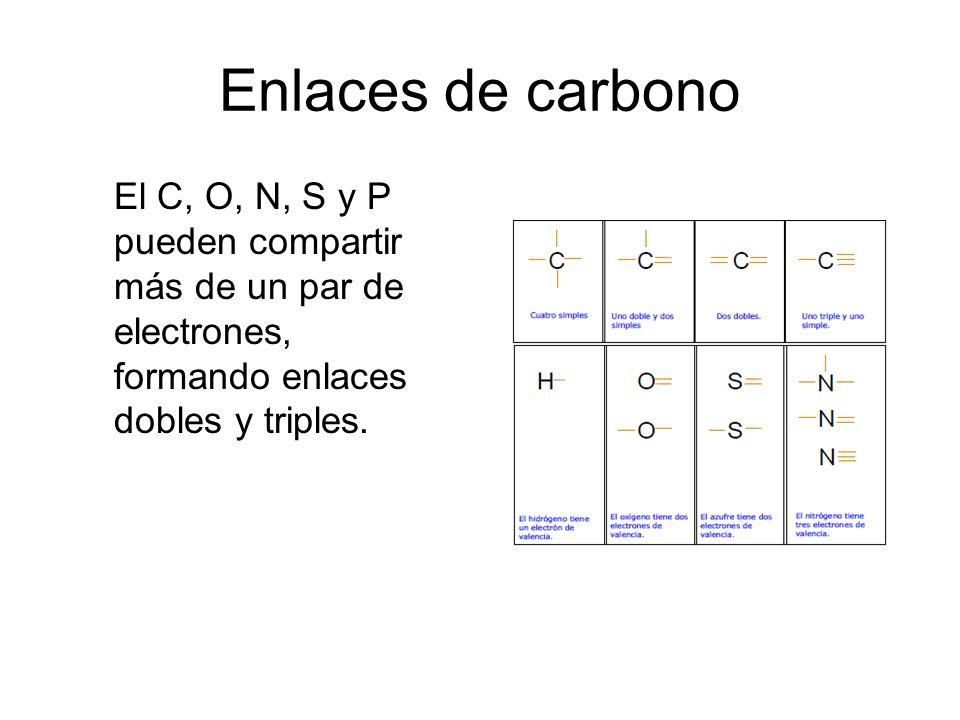 Tabla peridica y la estructura de la materia profesora gilda daz 41 enlaces de carbono el c o n s y p pueden compartir ms de un par de electrones formando enlaces dobles y triples urtaz Choice Image