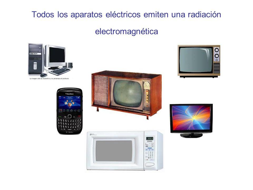 Todos los aparatos eléctricos emiten una radiación electromagnética