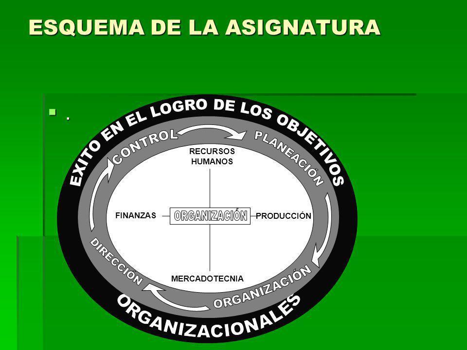 ESQUEMA DE LA ASIGNATURA