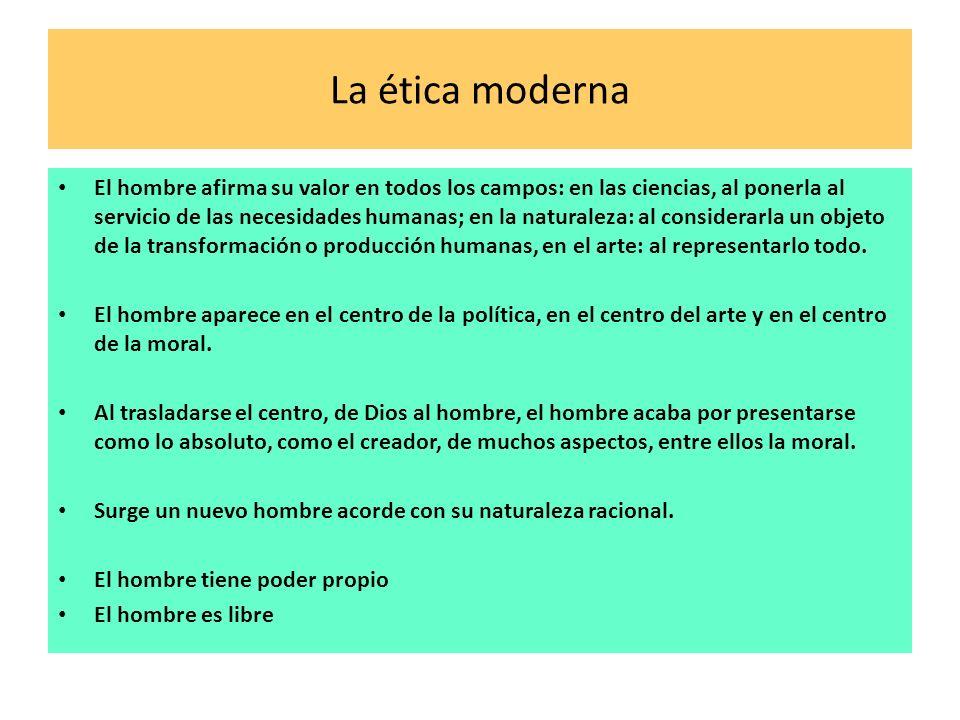 La ética moderna