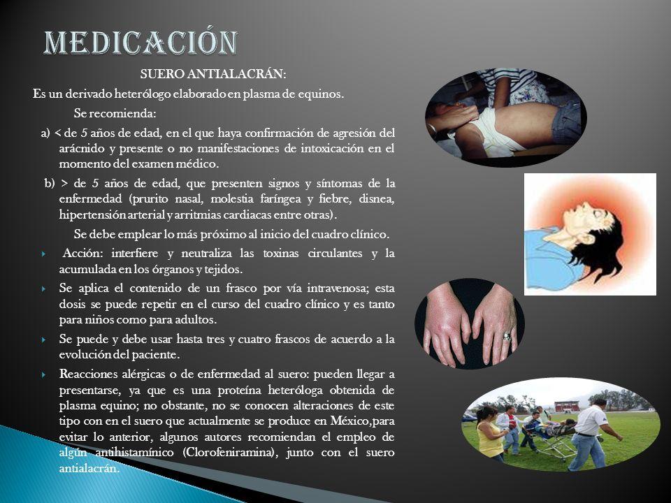 MEDICACIÓN SUERO ANTIALACRÁN: