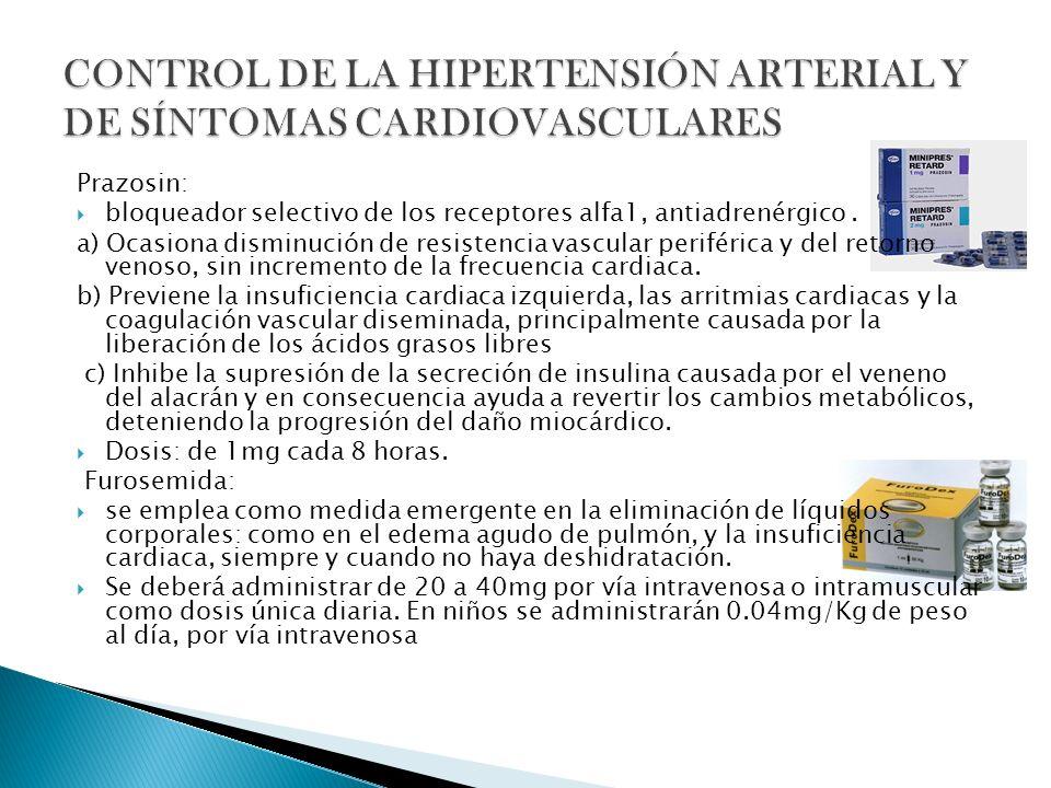 CONTROL DE LA HIPERTENSIÓN ARTERIAL Y DE SÍNTOMAS CARDIOVASCULARES