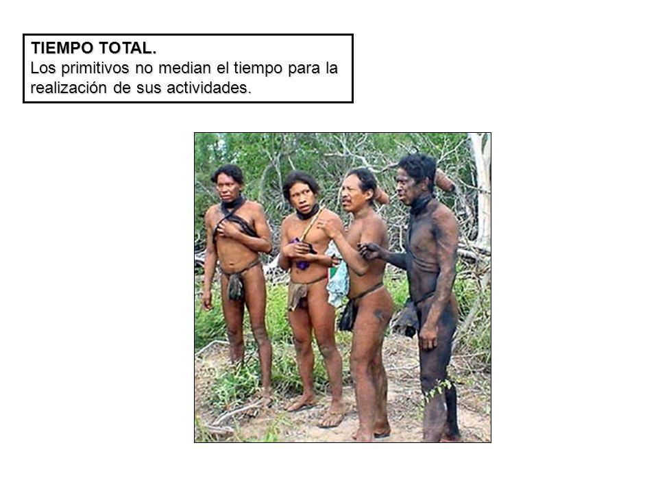 TIEMPO TOTAL. Los primitivos no median el tiempo para la realización de sus actividades.