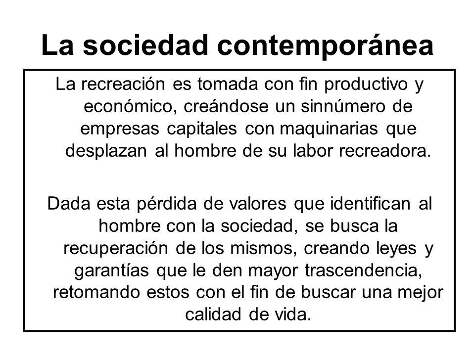 La sociedad contemporánea