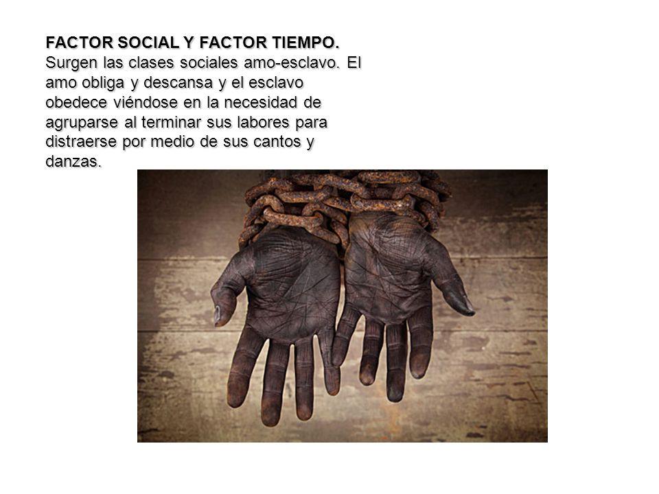FACTOR SOCIAL Y FACTOR TIEMPO.