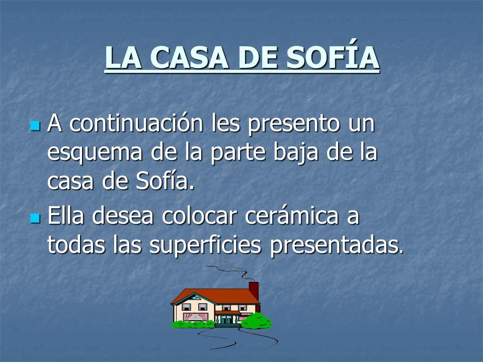 LA CASA DE SOFÍA A continuación les presento un esquema de la parte baja de la casa de Sofía.