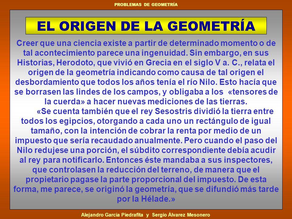 EL ORIGEN DE LA GEOMETRÍA