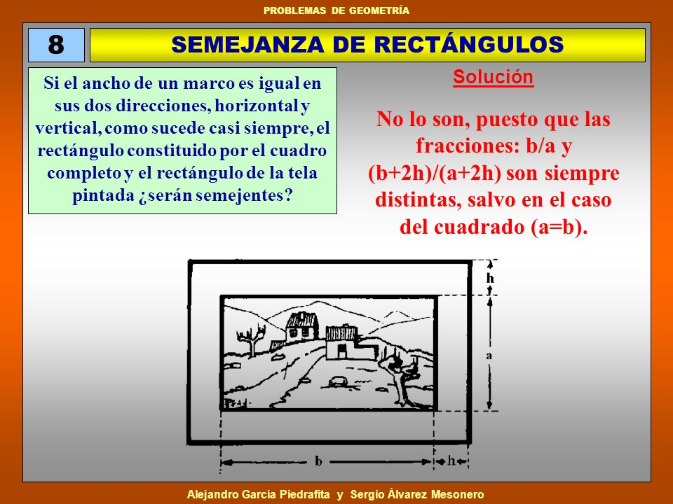 SEMEJANZA DE RECTÁNGULOS