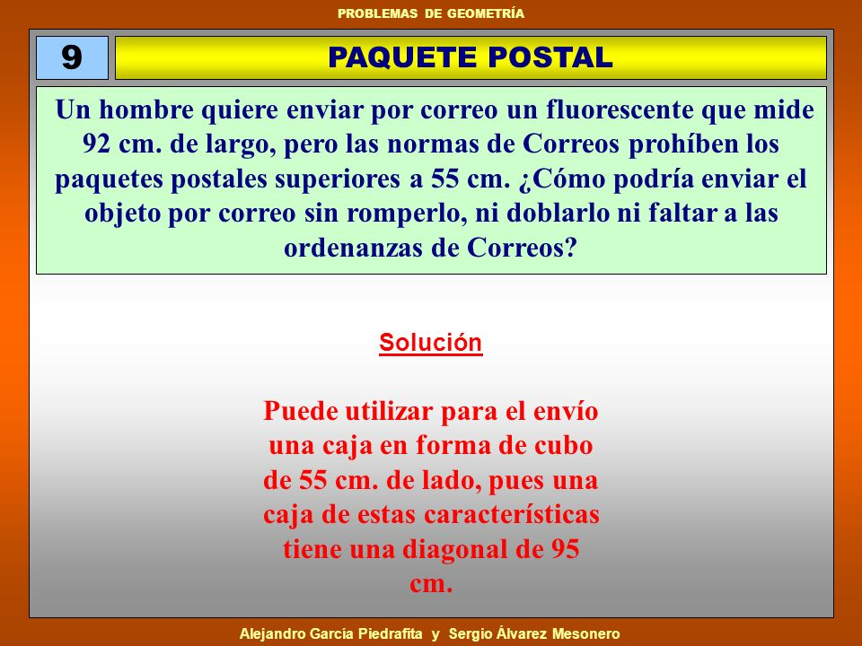 9 PAQUETE POSTAL.