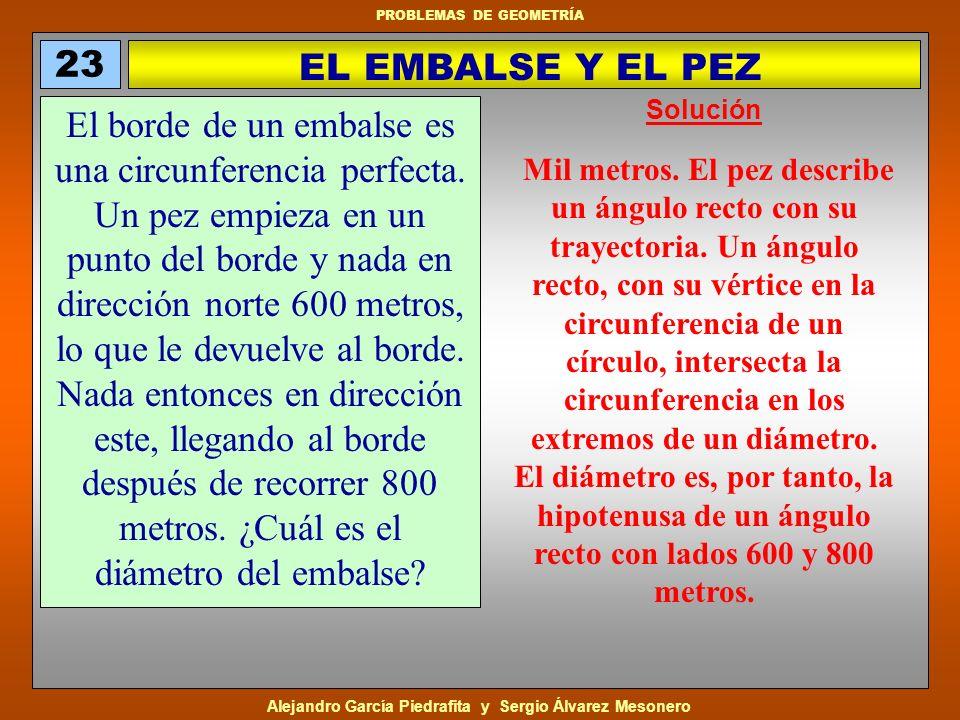 23 EL EMBALSE Y EL PEZ. Solución.