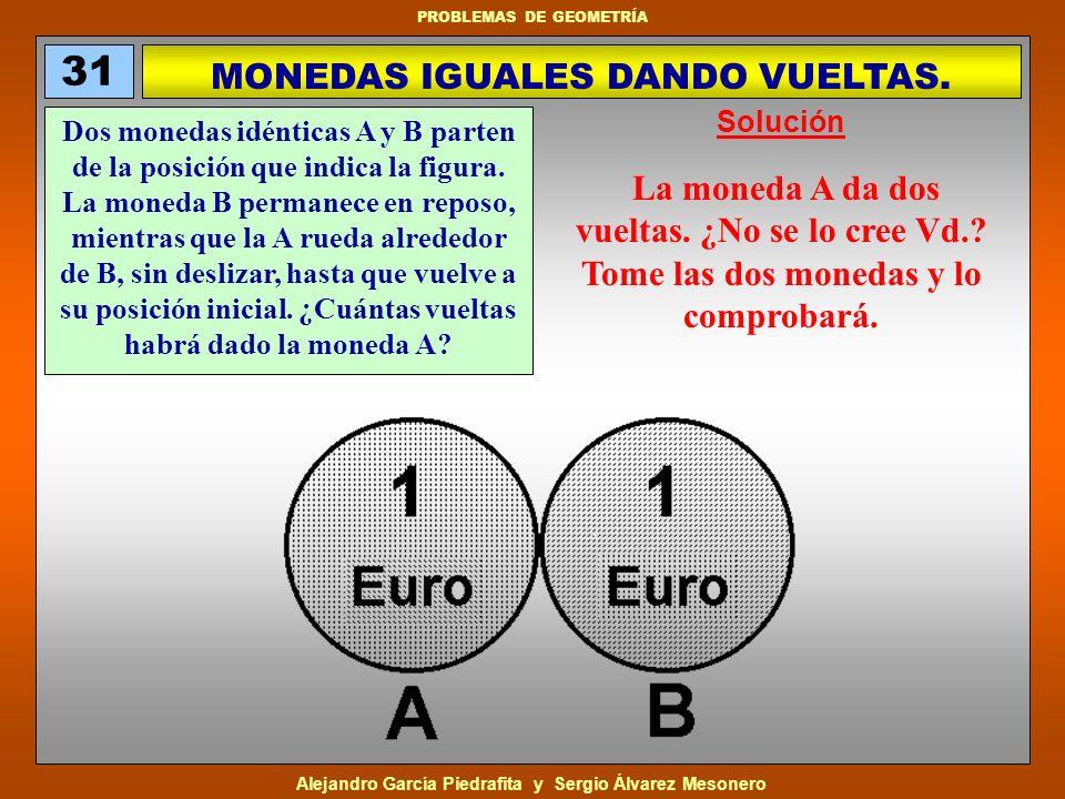 MONEDAS IGUALES DANDO VUELTAS.