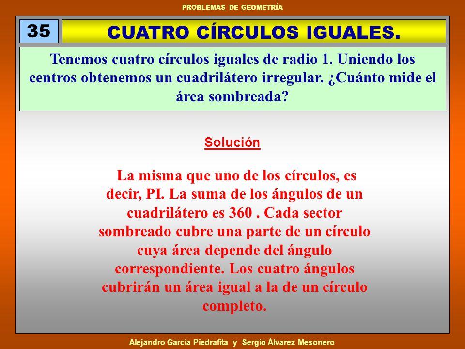 CUATRO CÍRCULOS IGUALES.