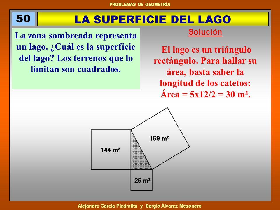 50 LA SUPERFICIE DEL LAGO. Solución.