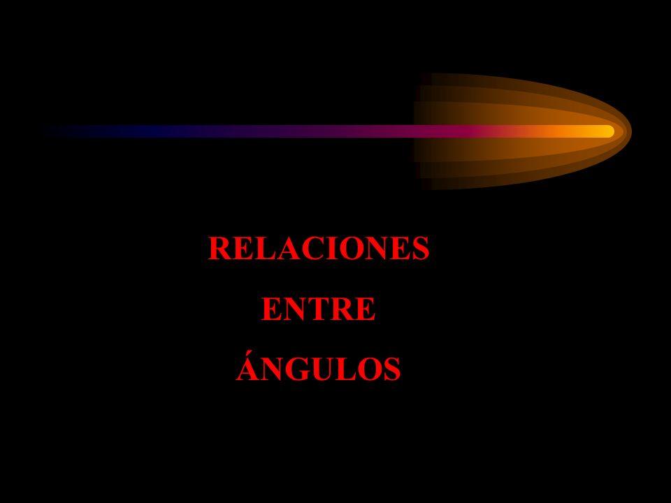 RELACIONES ENTRE ÁNGULOS