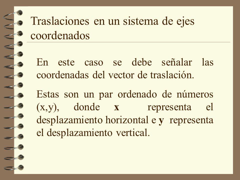 Traslaciones en un sistema de ejes coordenados
