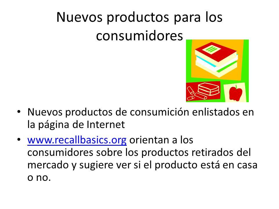Nuevos productos para los consumidores