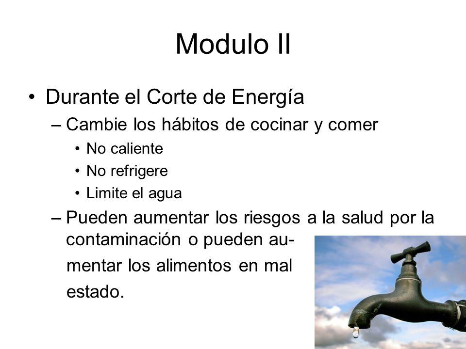 Modulo II Durante el Corte de Energía