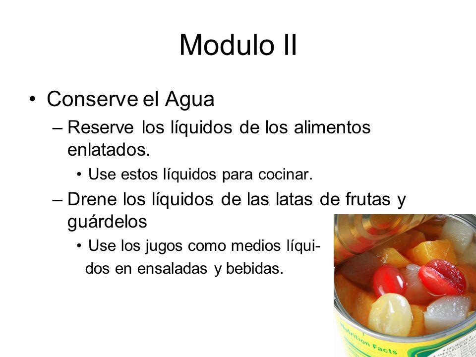 Modulo II Conserve el Agua