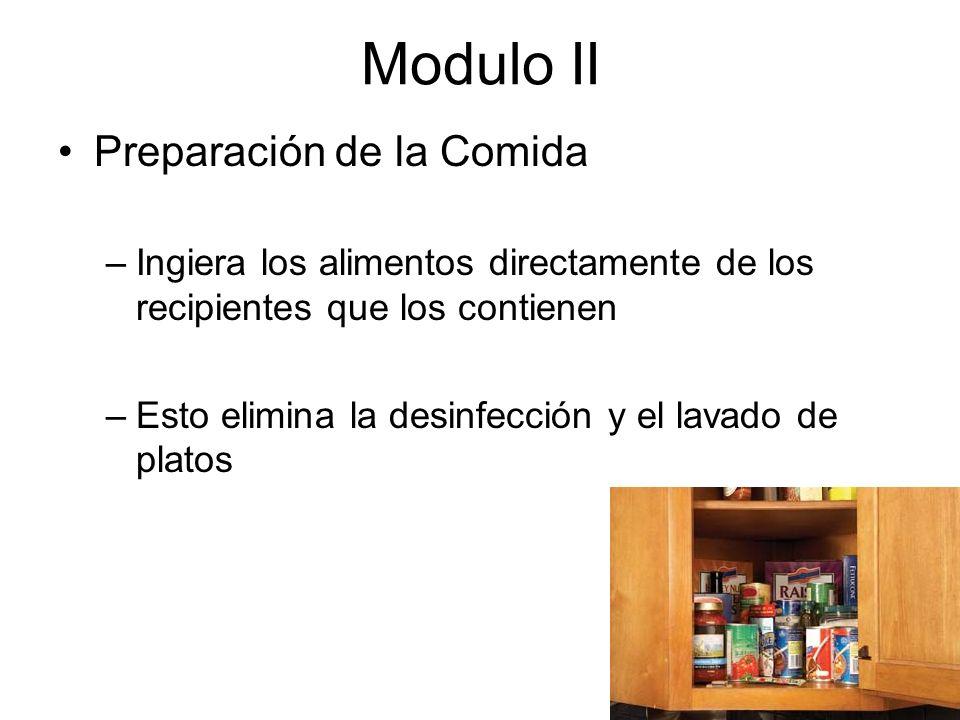 Modulo II Preparación de la Comida