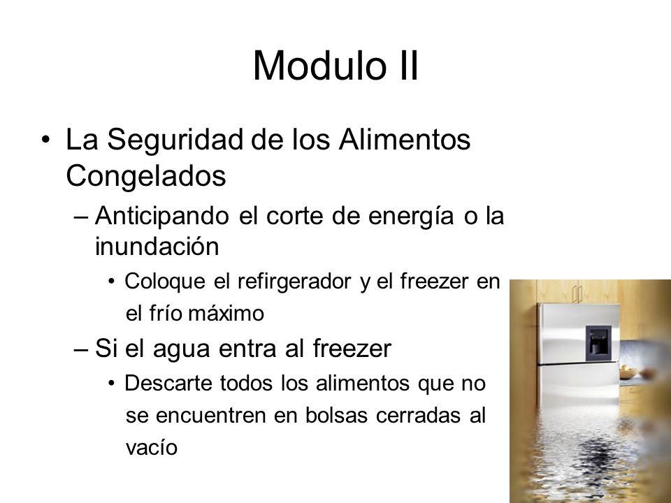 Modulo II La Seguridad de los Alimentos Congelados