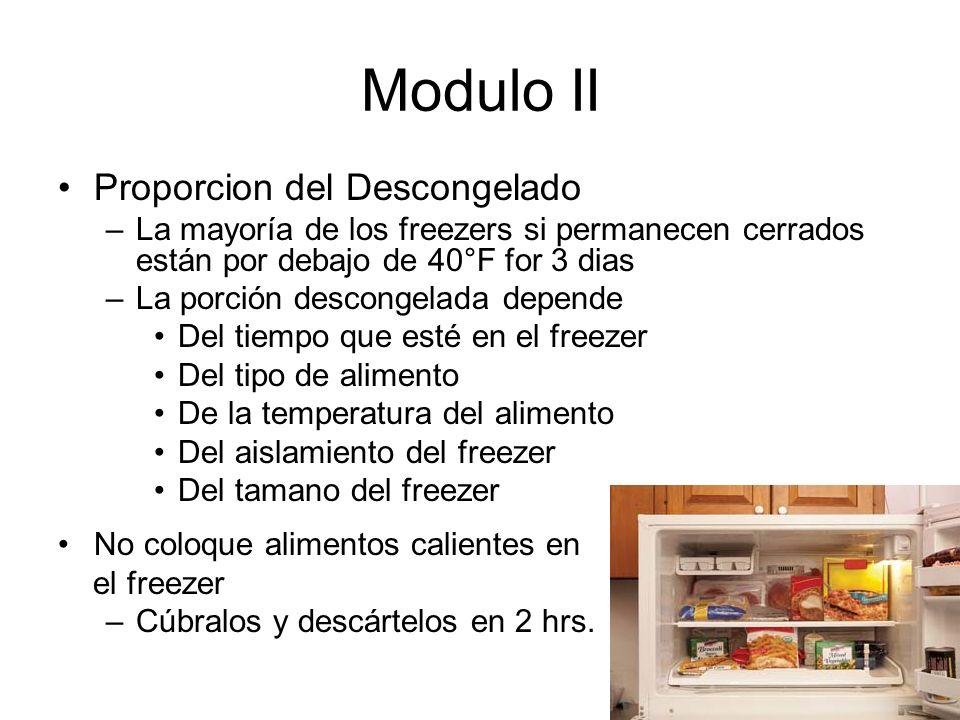 Modulo II Proporcion del Descongelado