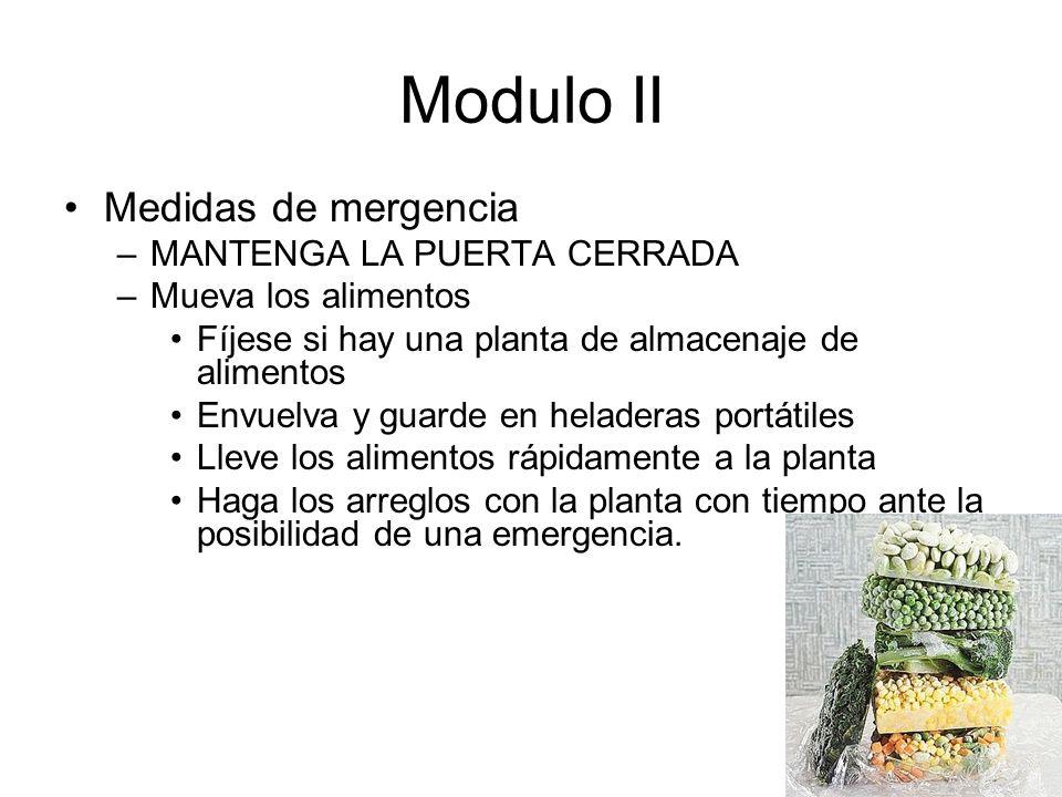 Modulo II Medidas de mergencia MANTENGA LA PUERTA CERRADA