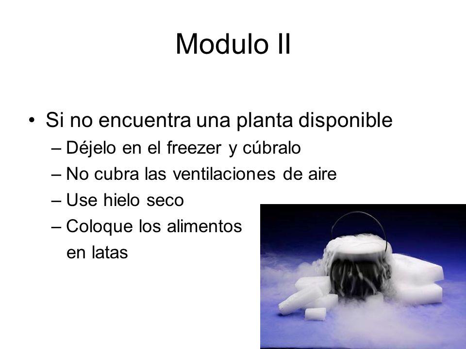 Modulo II Si no encuentra una planta disponible