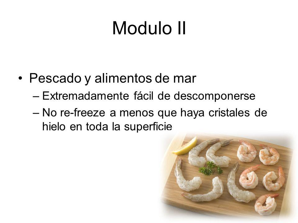 Modulo II Pescado y alimentos de mar