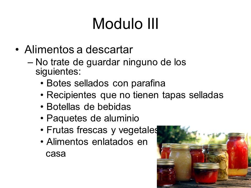 Modulo III Alimentos a descartar