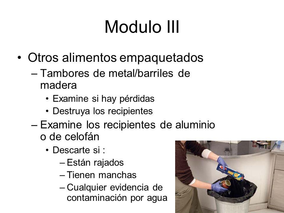 Modulo III Otros alimentos empaquetados