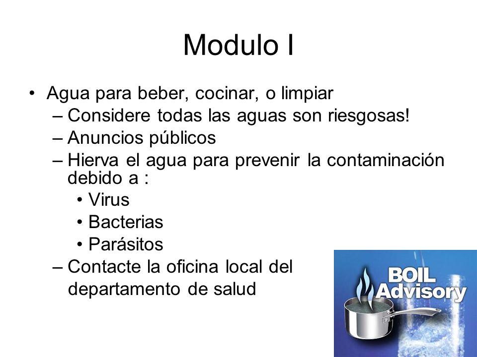 Modulo I Agua para beber, cocinar, o limpiar
