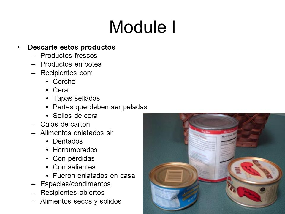 Module I Discard all of these: Descarte estos productos