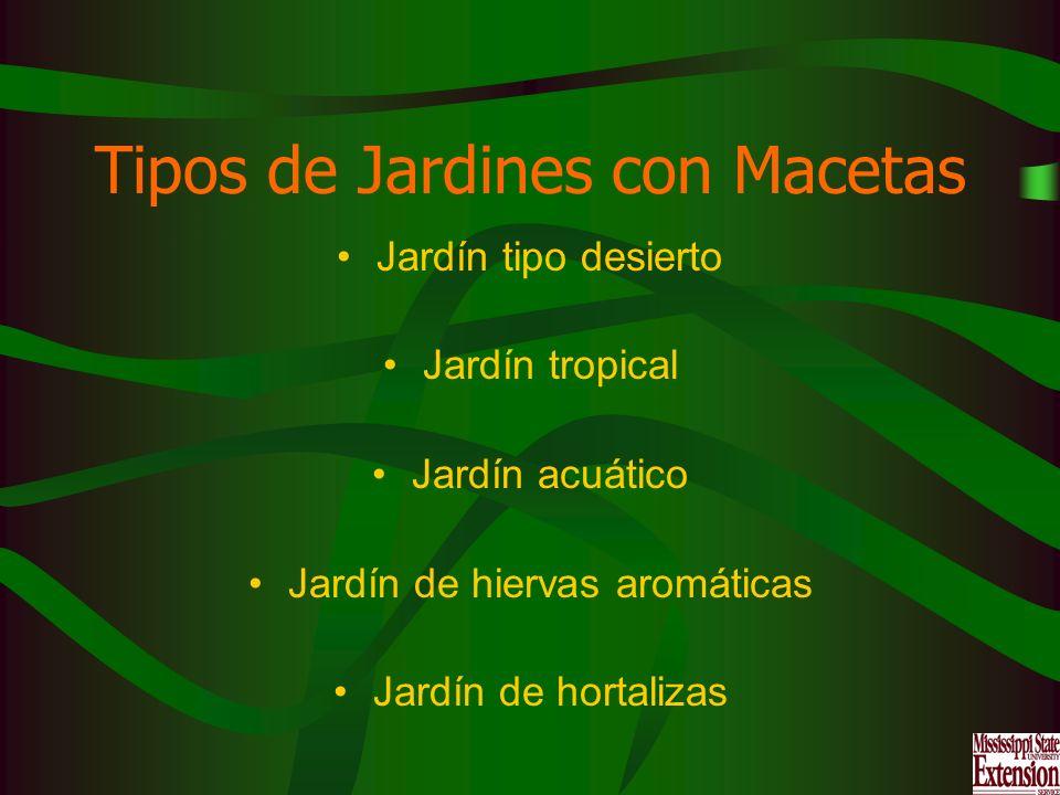 Tipos de Jardines con Macetas