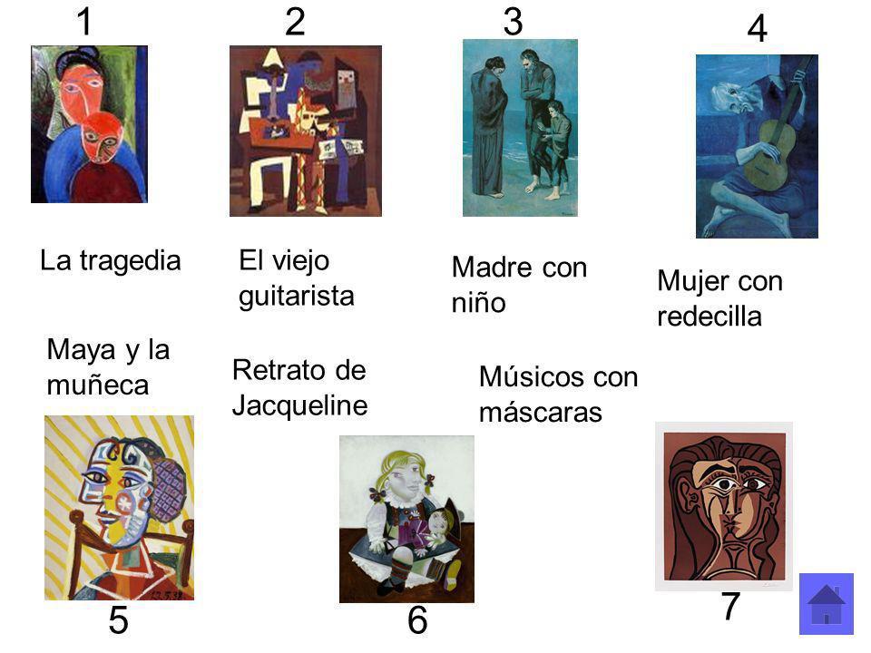 1 2 3 4 7 5 6 La tragedia El viejo guitarista Madre con niño