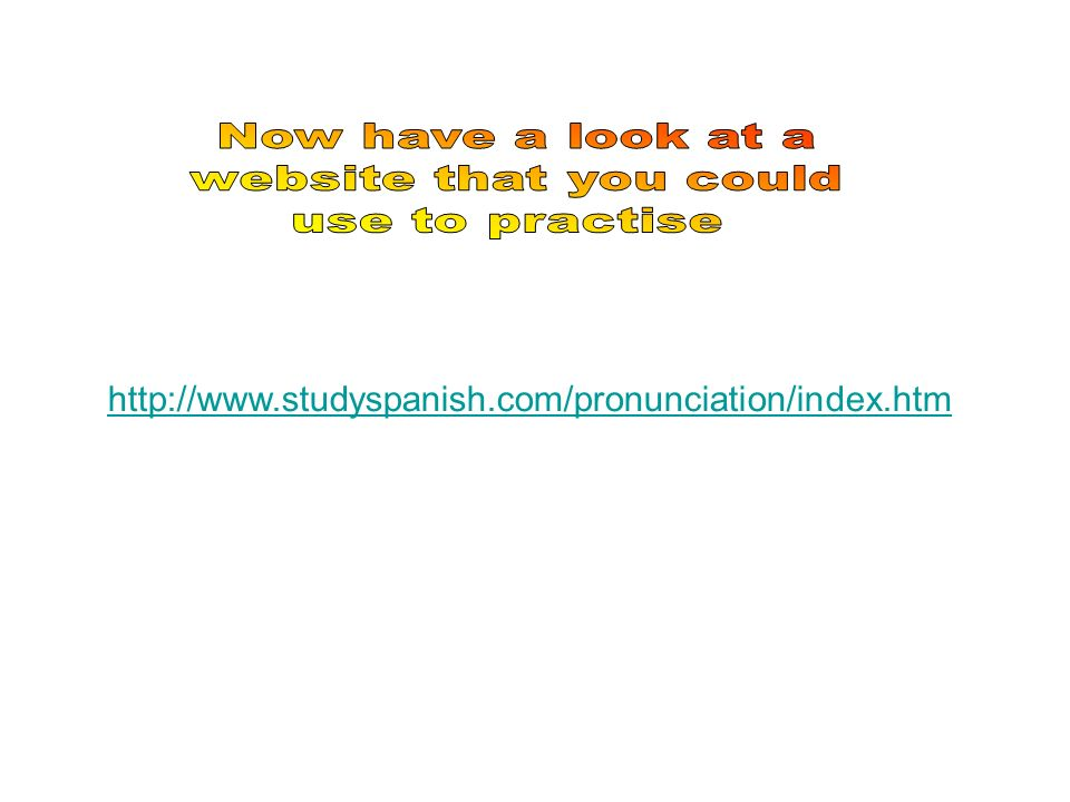 Now have a look at a website that you could use to practise