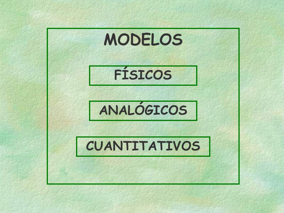 MODELOS FÍSICOS ANALÓGICOS CUANTITATIVOS