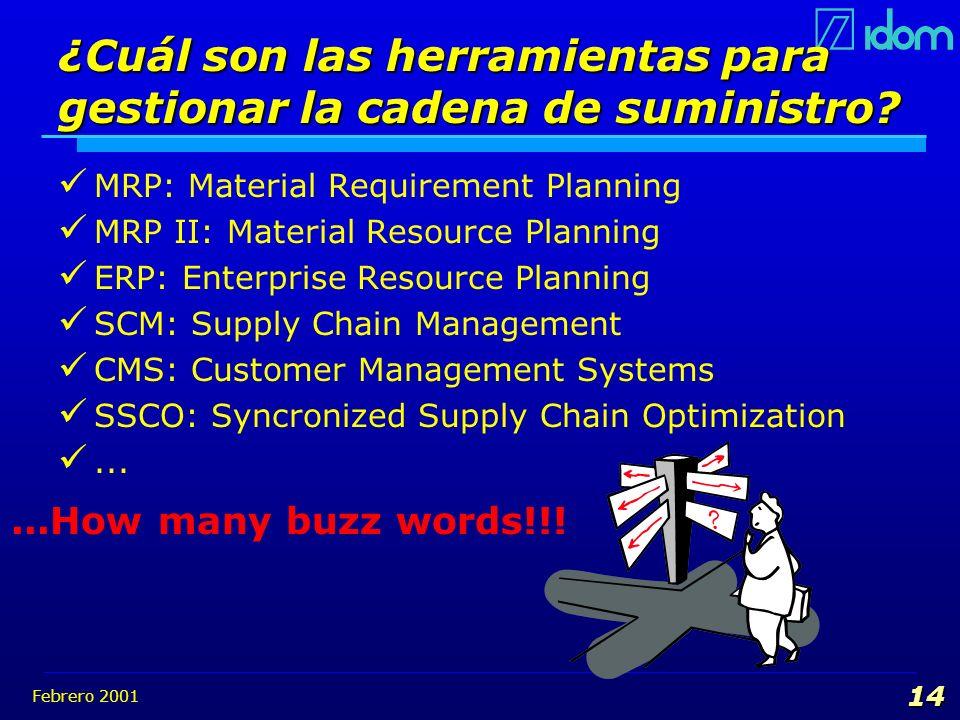 ¿Cuál son las herramientas para gestionar la cadena de suministro