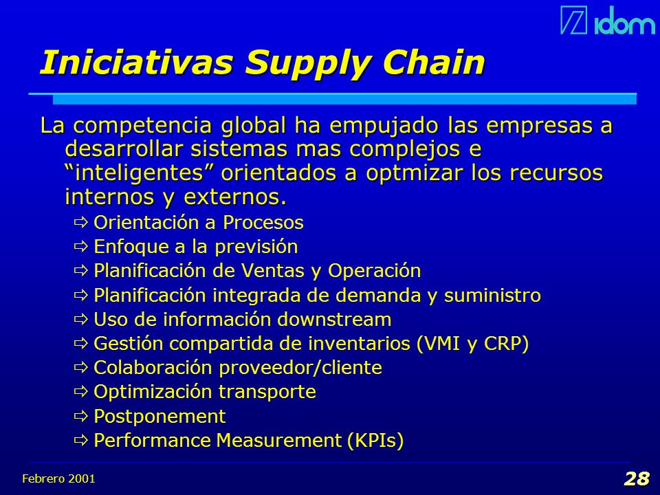 Iniciativas Supply Chain