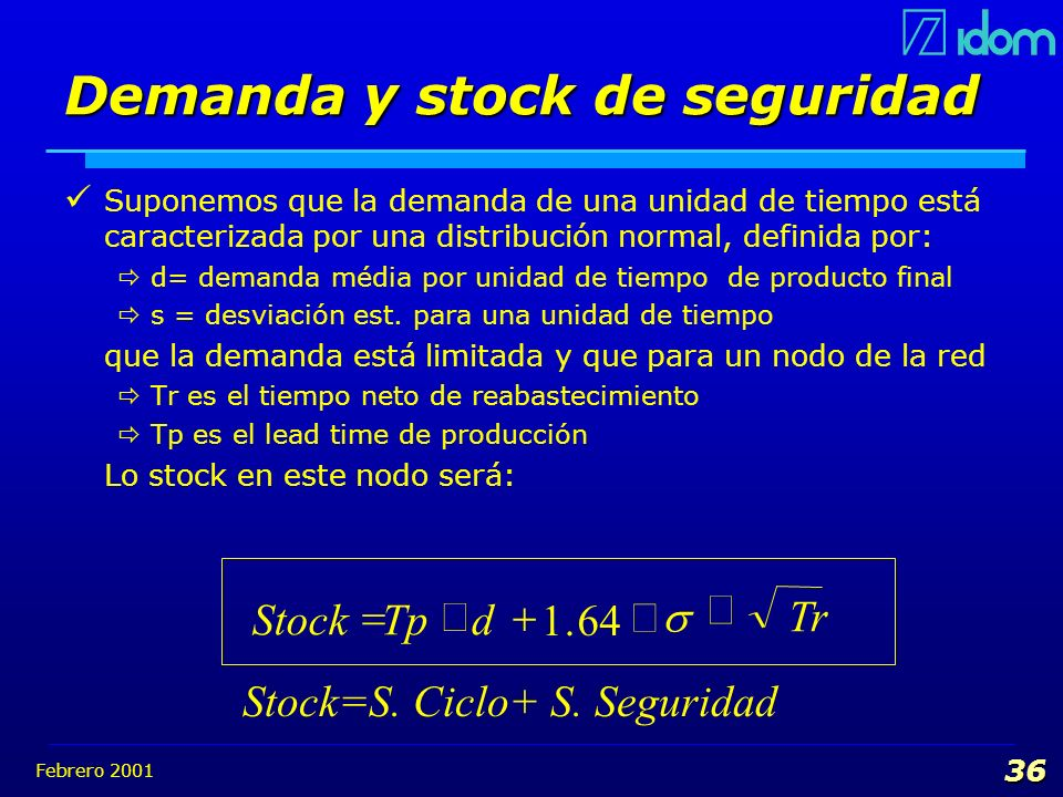 Demanda y stock de seguridad