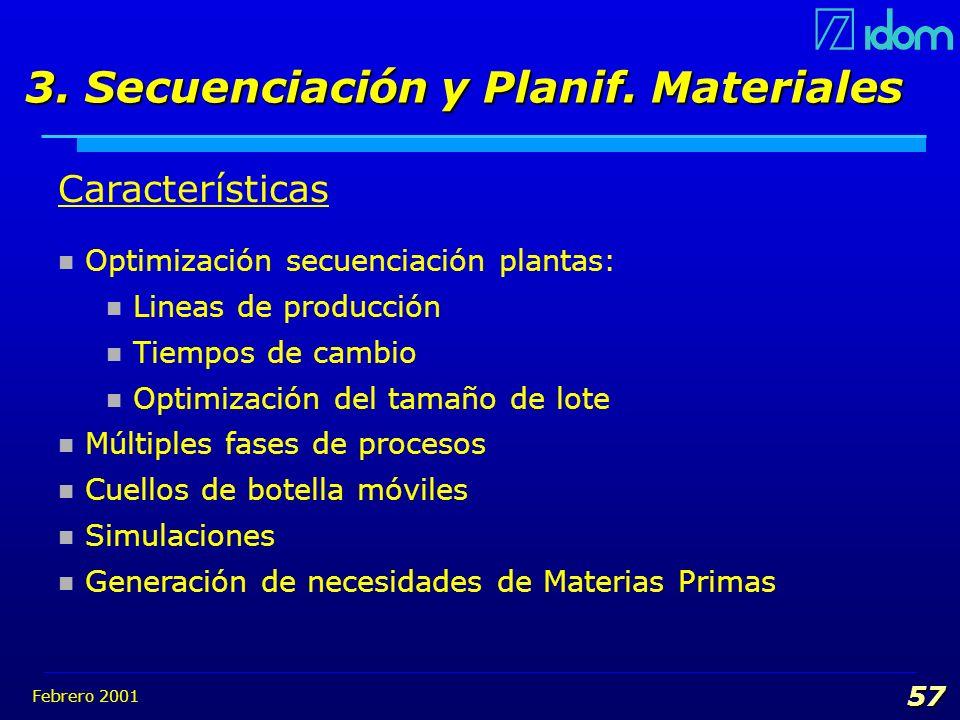 3. Secuenciación y Planif. Materiales