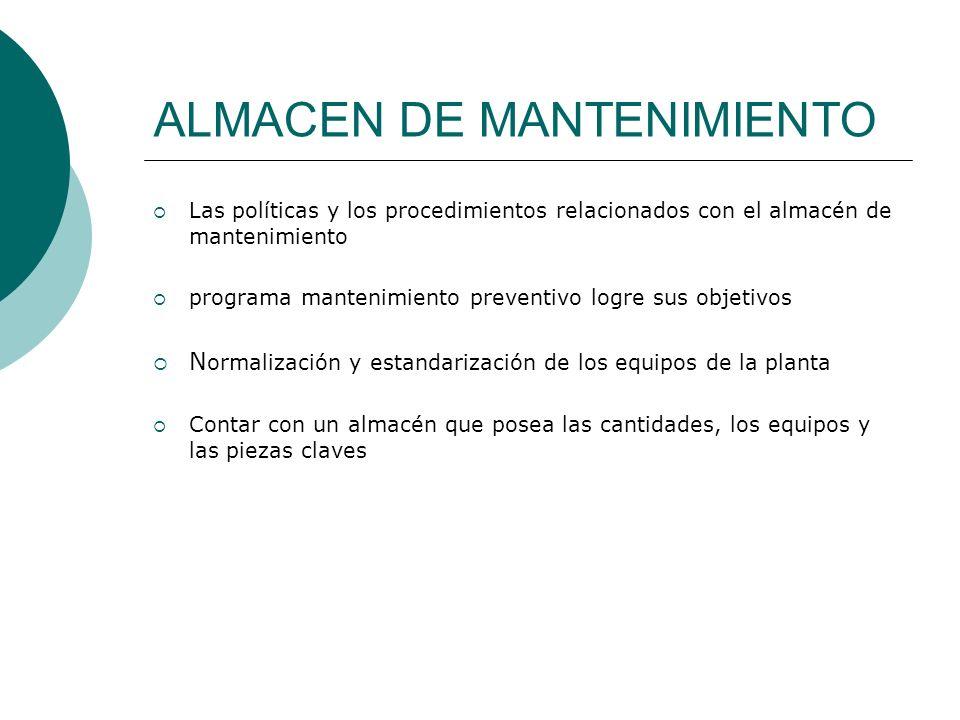 ALMACEN DE MANTENIMIENTO