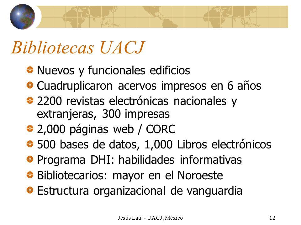 Bibliotecas UACJ Nuevos y funcionales edificios