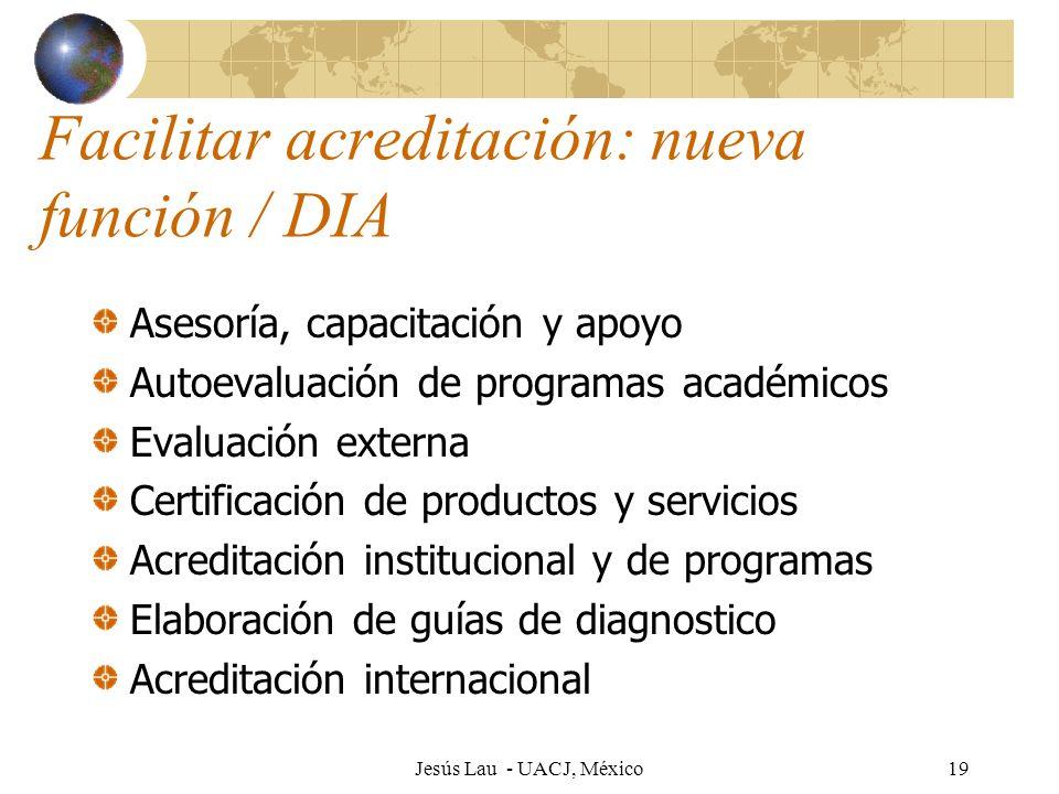 Facilitar acreditación: nueva función / DIA