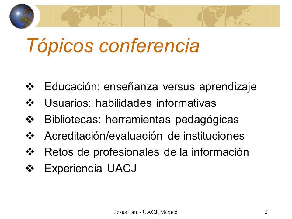 Tópicos conferencia Educación: enseñanza versus aprendizaje
