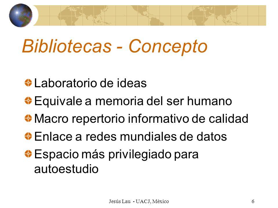 Bibliotecas - Concepto
