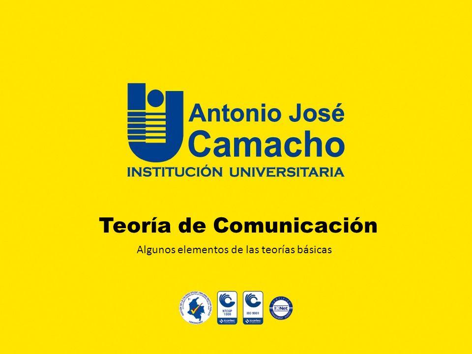 Teoría de Comunicación