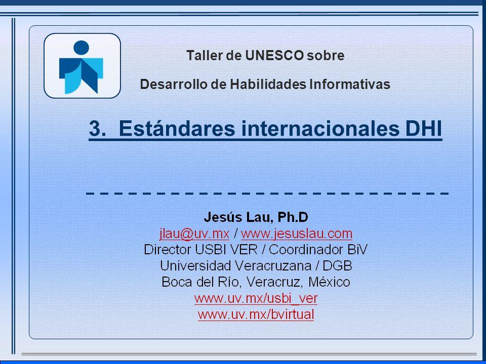 Taller de UNESCO sobre Desarrollo de Habilidades Informativas 3