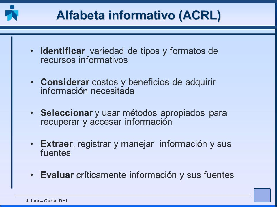 Alfabeta informativo (ACRL)