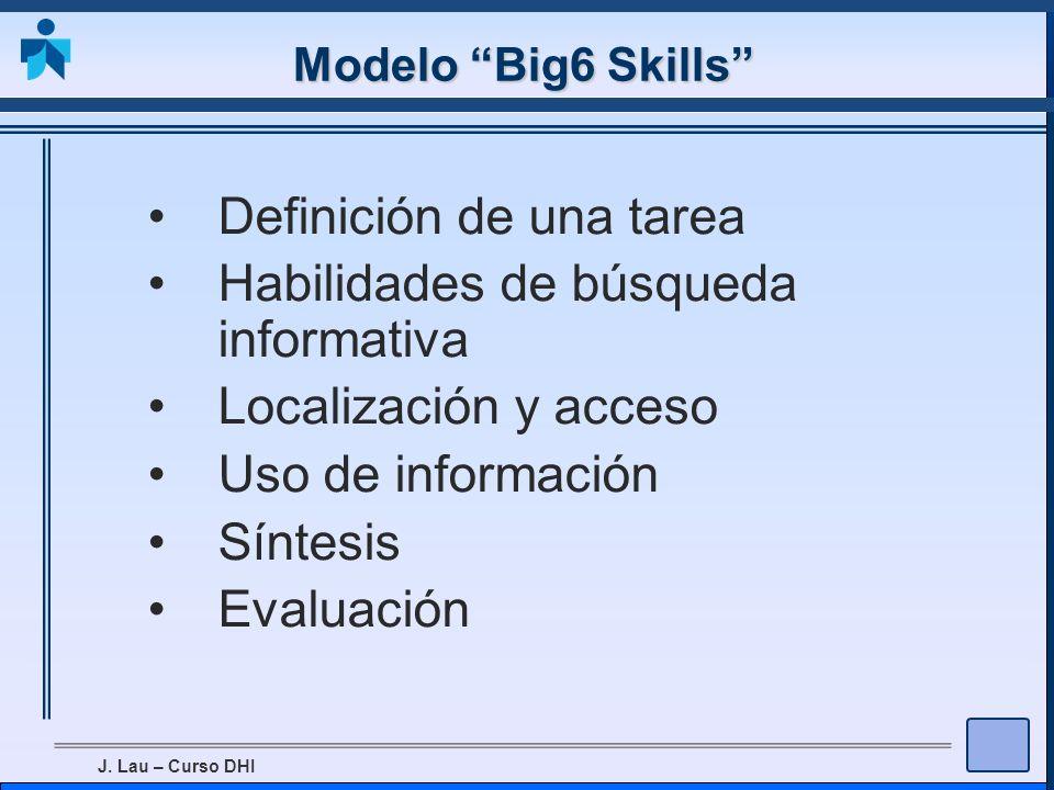 Definición de una tarea Habilidades de búsqueda informativa