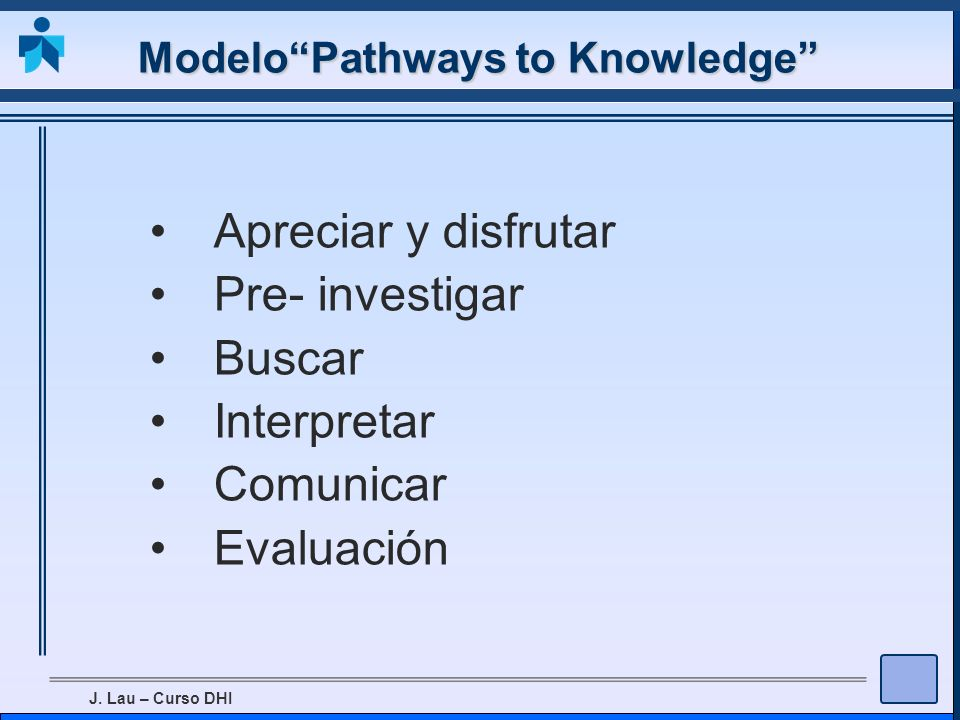 Modelo Pathways to Knowledge